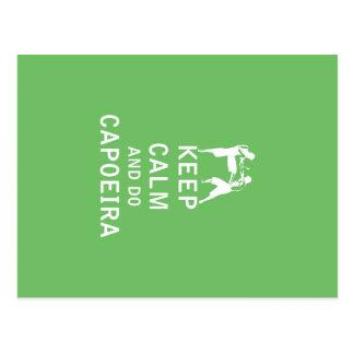 Behalten Sie ruhig und tun Sie Capoeira Postkarte