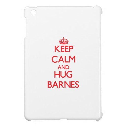 Behalten Sie ruhig und Umarmung Barnes iPad Mini Cover