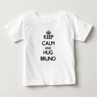 Behalten Sie ruhig und Umarmung Bruno Baby T-shirt