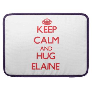 Behalten Sie ruhig und Umarmung Elaine Sleeves Für MacBook Pro