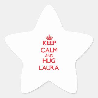 Behalten Sie ruhig und Umarmung Laura Stern Aufkleber