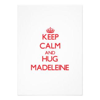 Behalten Sie ruhig und Umarmung Madeleine Personalisierte Einladungskarten