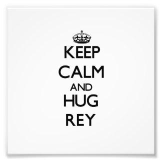 Behalten Sie ruhig und Umarmung Rey Photographie