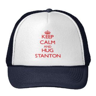 Behalten Sie ruhig und Umarmung Stanton Mütze
