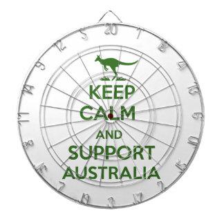 Behalten Sie ruhig und Unterstützung Australien Dartscheibe