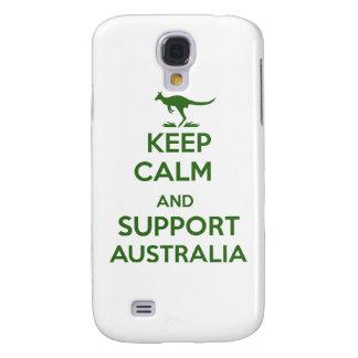Behalten Sie ruhig und Unterstützung Australien Galaxy S4 Hülle