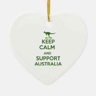 Behalten Sie ruhig und Unterstützung Australien Keramik Ornament