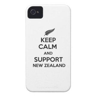 Behalten Sie ruhig und Unterstützung Neuseeland iPhone 4 Hüllen