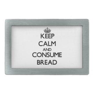 Behalten Sie ruhig und verbrauchen Sie Brot Rechteckige Gürtelschnalle