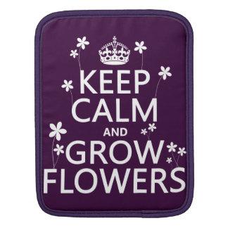 Behalten Sie ruhig und wachsen Sie Blumen (in iPad Sleeve