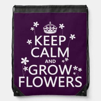 Behalten Sie ruhig und wachsen Sie Blumen (in Sportbeutel