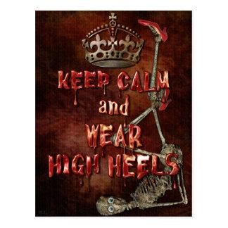 Behalten Sie ruhige Abnutzungs-hohen Heels HORROR Postkarte