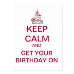 BEHALTEN Sie RUHIGE alles- Gute zum Geburtstagpost Postkarten