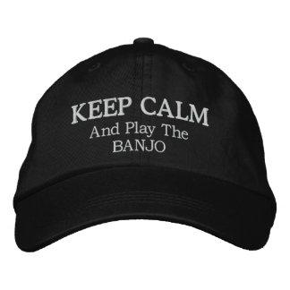 Behalten Sie ruhige Banjo-Musik gestickten Hut