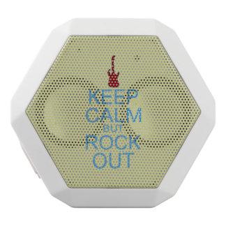 Behalten Sie ruhige Felsen-heraus - Parodie -- Weiße Bluetooth Lautsprecher