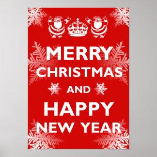 Behalten Sie ruhige frohe Weihnachten Poster