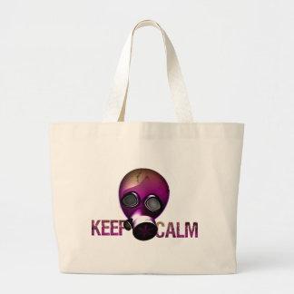 behalten Sie ruhige Gasmaske Einkaufstasche