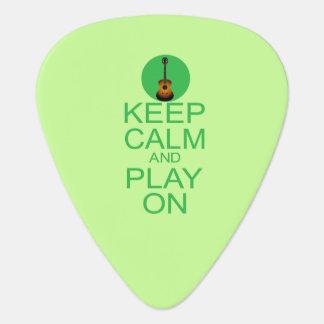 Behalten Sie ruhige Gitarren-Parodie Plektrum