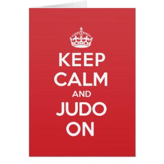 Behalten Sie ruhige Judo-Gruß-Anmerkungs-Karte Karte