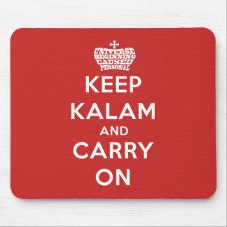 Behalten Sie ruhige Kalam Mausunterlage Mousepad