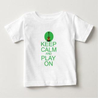Behalten Sie ruhige Parodie-Gitarre Baby T-shirt