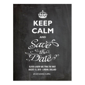 Behalten Sie ruhige Save the Date Tafel-Trendy Postkarte