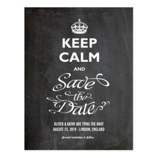 Behalten Sie ruhige Save the Date Tafel-Trendy Postkarten