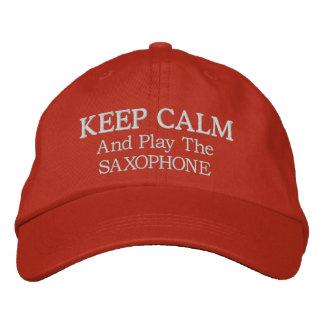 Behalten Sie ruhige Saxophone-Musik gestickten Hut Baseballkappe