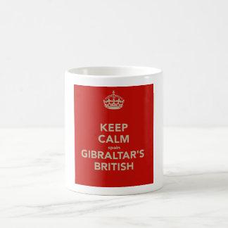 Behalten Sie ruhige Tasse Spaniens Gibraltars