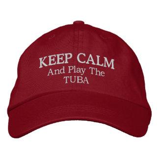 Behalten Sie ruhige Tuba-Musik gestickten Hut