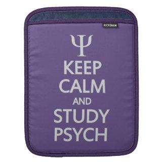 Behalten Sie ruhige u. Studie Psych kundenspezifis Sleeve Für iPads