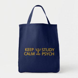 Behalten Sie ruhige u. Studie Psych Tasche - Art,