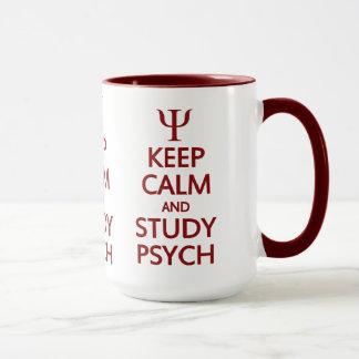 Behalten Sie ruhige u. Studie Psych Tasse - Art,