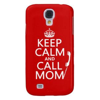 Behalten Sie ruhige und Anruf-Mamma - alle Farben Galaxy S4 Hülle