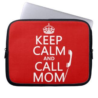Behalten Sie ruhige und Anruf-Mamma - alle Farben Laptopschutzhülle
