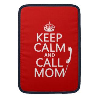 Behalten Sie ruhige und Anruf-Mamma - alle Farben MacBook Air Sleeve