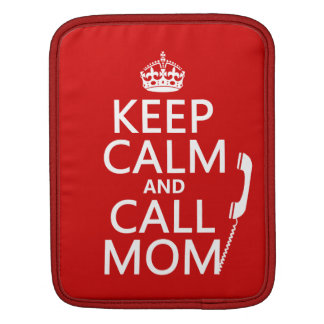 Behalten Sie ruhige und Anruf-Mamma - alle Farben Sleeve Für iPads