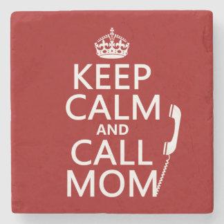Behalten Sie ruhige und Anruf-Mamma - alle Farben Steinuntersetzer