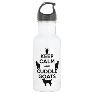 Behalten Sie ruhige und Edelstahlflasche