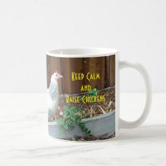 Behalten Sie ruhige und Erhöhungs-Hühner Kaffeetasse