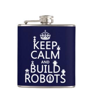 Behalten Sie ruhige und Gestalt-Roboter (in Flachmann