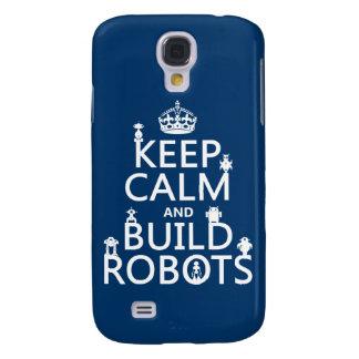 Behalten Sie ruhige und Gestalt-Roboter (in Galaxy S4 Hülle