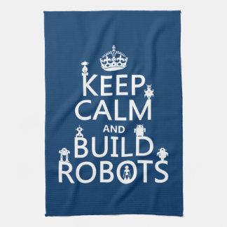 Behalten Sie ruhige und Gestalt-Roboter (in Handtuch