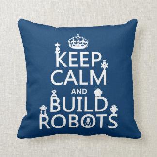 Behalten Sie ruhige und Gestalt-Roboter (in Kissen