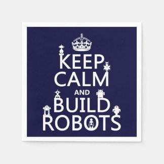 Behalten Sie ruhige und Gestalt-Roboter (in Papierservietten