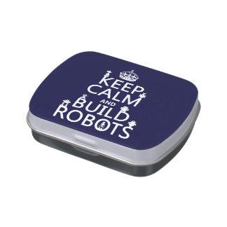 Behalten Sie ruhige und Gestalt-Roboter (in Süßigkeitenbox