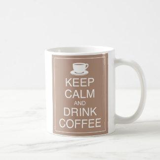 Behalten Sie ruhige und Getränk-Kaffee-Tasse Tasse