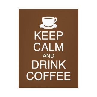Behalten Sie ruhige und Getränk-Kaffee-Wand-Kunst Leinwanddruck