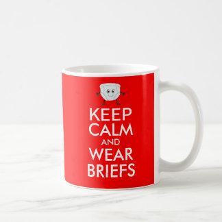 Behalten Sie ruhige und Kaffeetasse