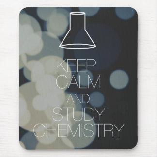 Behalten Sie ruhige und Studien-Chemie Mousepad